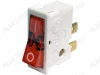 Сетевой выключатель ВК-42 34,0*12,5mm; 16A/220V; 4 pin