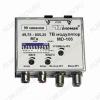 Модулятор ТВ-сигнала MD-106 (модуляция НЧ аудио-видео сигнала в ВЧ телевизионный сигнал) Диапазон рабочих частот 49,75-855,25 МГц; 99 каналов с шагом 8 Мгц; вход НЧ - RCA; выход ВЧ - F; питание 12В 0,2А (блок питания в комплект не входит)