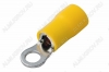 Клемма кольцевая (№24) d=4.3мм VR5.5-4 изолированная сечение 3.5-5.5 мм2; желтая