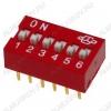 Переключатель DS-06 25mA/24VDC; шаг 2.54мм