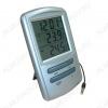 Термометр цифровой TM898T Измерение наружной и внутренней температуры, часы; (гарантия 6 месяцев)