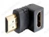 Переходник (2197) HDMI штекер/HDMI гнездо угловой