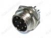Разъем (4170) MIC16-8pin штекер на корпус