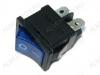 Сетевой выключатель RWB-207 (SWR-45)  синий с подсветкой 19,2*13,3mm; 6A/250V; 4 pin