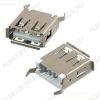Разъем (3710) USB A-FS Розетка на плату прямая