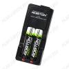 Зарядное устройство Li500-2 для 1-2шт Li-ion аккумуляторов 18650, 14500, 18500, 16340, 123A (4.2V 500mA), автоматическая обработка + питание от прикуривателя 12V