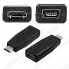 Переходник (509) MINI USB B 5pin гнездо/MICRO USB B 5pin штекер