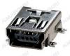 Разъем (3740) MINI USB B 5S (USB/M-1J) Гнездо на плату 5-pin угловое SMD