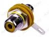 Разъем (1272) RCA гнездо на корпус желтый с изолятором