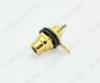 Разъем (1280) RCA гнездо на корпус черный с изолятором Gold (1-291G)