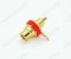 Разъем (1281) RCA гнездо на корпус красный с изолятором Gold (1-291G)