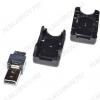 Разъем (383) MICRO USB 5pin штекер на кабель с кожухом